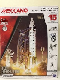 NEW MECCANO Space Quest 260 Piece Maker System Features 15 different Models Vaughan