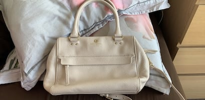 Kate Spade Handbag - white leather