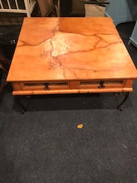 coffee table with drawers. Metal legs Breezy Point, 56472