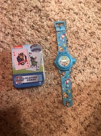 Paw patrol watch and deck of cards  ROUNDROCK
