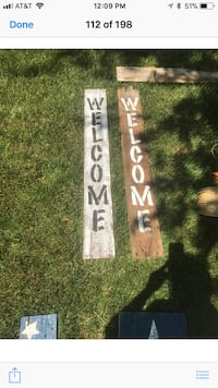 Wooden Welcome Sign ( can make signs like this)