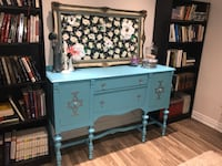 Vintage turquoise hutch/buffet