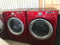 red front load washing machine and dryer set Oxnard, 93033