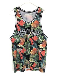 Black, green, and red floral sleeveless top Kitchener, N2N 3A4