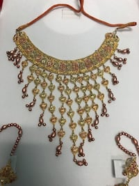 Bridal necklace set with jhumkay, preloved, indian, golf &copper Mississauga, L5C