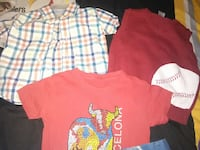 red v neck; orange crew neck and collared button up t-shirt Albany, 31701