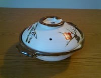 Japanese Pottery Rice Bowl Cookware with Lid  West Springfield