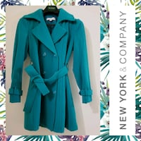 New York & Company Teal Wool Trench Coat Hagerstown, 21740