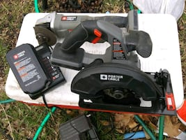 Saw and grinder batteries and charger included