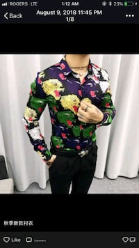 Gucci Graphic Dress shirt Mississauga