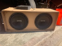 Dual 12.5 inch subwoofer with amp Clarksburg