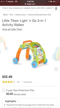 Walker with activity light and sound Bell, 90201