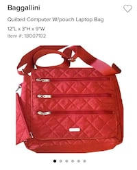 Baggallini Quilted CrossBody / Laptop Bag Richmond, 23220