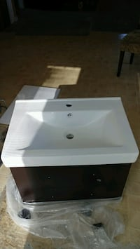 Wall mounted vanity  reduction from $400