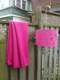 Bright pink black out curtains and light fixture Toronto, M4E 3N8