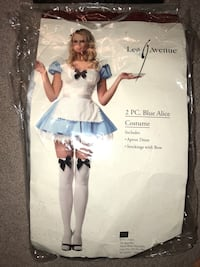 Blue Alice Costume size Medium. *Missing stockings* Springfield