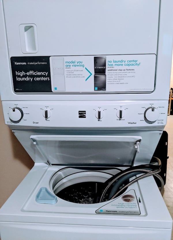 Kenmore High Efficiency Stacked Washer/Dryer cf505f39-7aea-4720-a76d-0794c9df3207