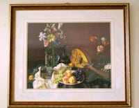 Large Still life picture in ornate gold wood frame Toronto, M2J 2C2
