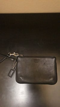 Coach black leather wristlet Pasadena, 91101