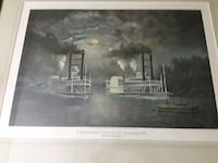 A Steamboat Race on the Mississippi 28x23 Charlotte, 28217