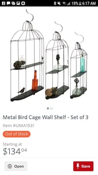 New VERY LARGE bird cage 2 shelf hanging vintage inspired unique piece Wrightsville, 17368