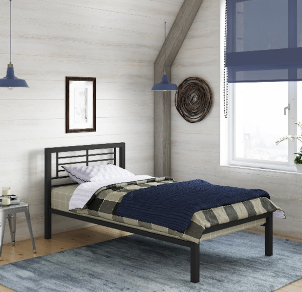 Twin Size Metal Platform Bed frame childs bedroom Kids Heavy Duty. Mattress  or Box Spring not includ