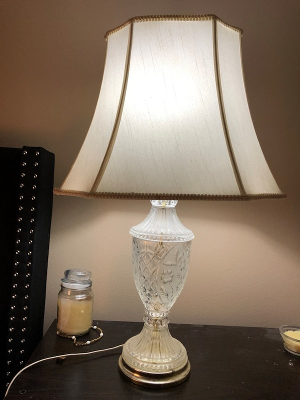 Lamp - etched glass