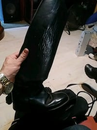 Horse riding boots Ariat 7.5 and helmet