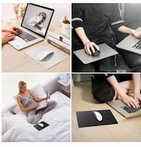 Enkarl Mouse Pad, Double Sided Design-Metal and PU Mouse Mat Pad, Fast and Accurate Control for Gaming and Office, Waterproof & Non-Slip & Durable & Stylish (Silver/Black, 1 PCS) Albertson