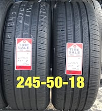 2 used tires 245/50/18 Pirelli P7 RFT  Houston, 77047