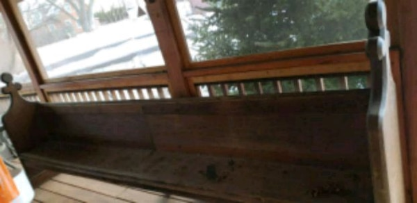Awe Inspiring Rare Antique Wooden Church Bench Caraccident5 Cool Chair Designs And Ideas Caraccident5Info