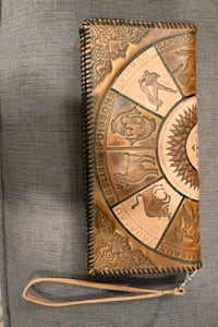 Part-Leather Astrological Sign Clutch
