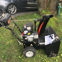 black and red snow blower null