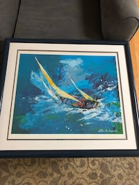 "LeRoy Nieman ""Sailing"" pencil signed lithograph. Framed. North Reading, 01864"