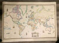 really neat, antique world map poster, excellent condition! great deal Apple Valley, 55124