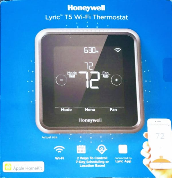 Honeywell Lyric T5 Wi-Fi Thermostat @ 50% 1