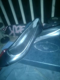 pair of black leather loafers 2389 mi