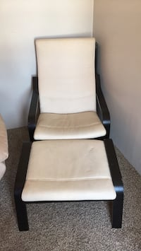 white and black leather padded rolling chair Baltimore, 21220