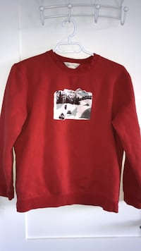 Red pullover hoodie // Northern Reflections Edmonton, T6W 2R7