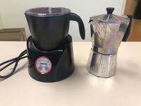 black and gray electric kettle 40 km