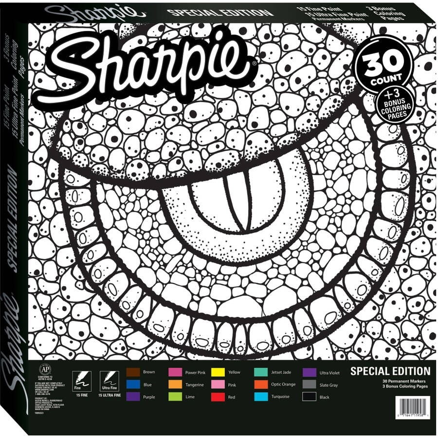 sharpie special edition 30 permanent markers and 3 reptile