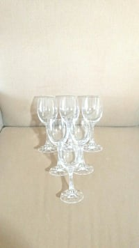 Set of 6 Crystal Wine Glasses