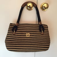 Eric javits - brown and black striped shoulder bag Fairfax, 22032