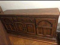 Brown wooden sideboard with cabinet Jersey City, 07302