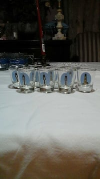 """NEW CAPE HENRY"" 8 piece shot glass set as is. Norfolk, 23504"