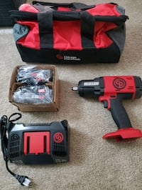 NEW CHICAGO PNEUMATIC CORDLESS IMPACT WRENCH W/ 2 BATTERIES & CHARGER.
