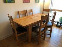 Oak table and 6 chairs null, SE1 3FD