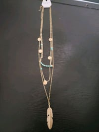 Layered Gold/Turquoise Necklace Vancouver, V5M 1L3