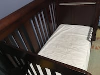 baby's brown wooden crib SILVERSPRING