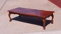 rectangular brown wooden coffee table Albuquerque